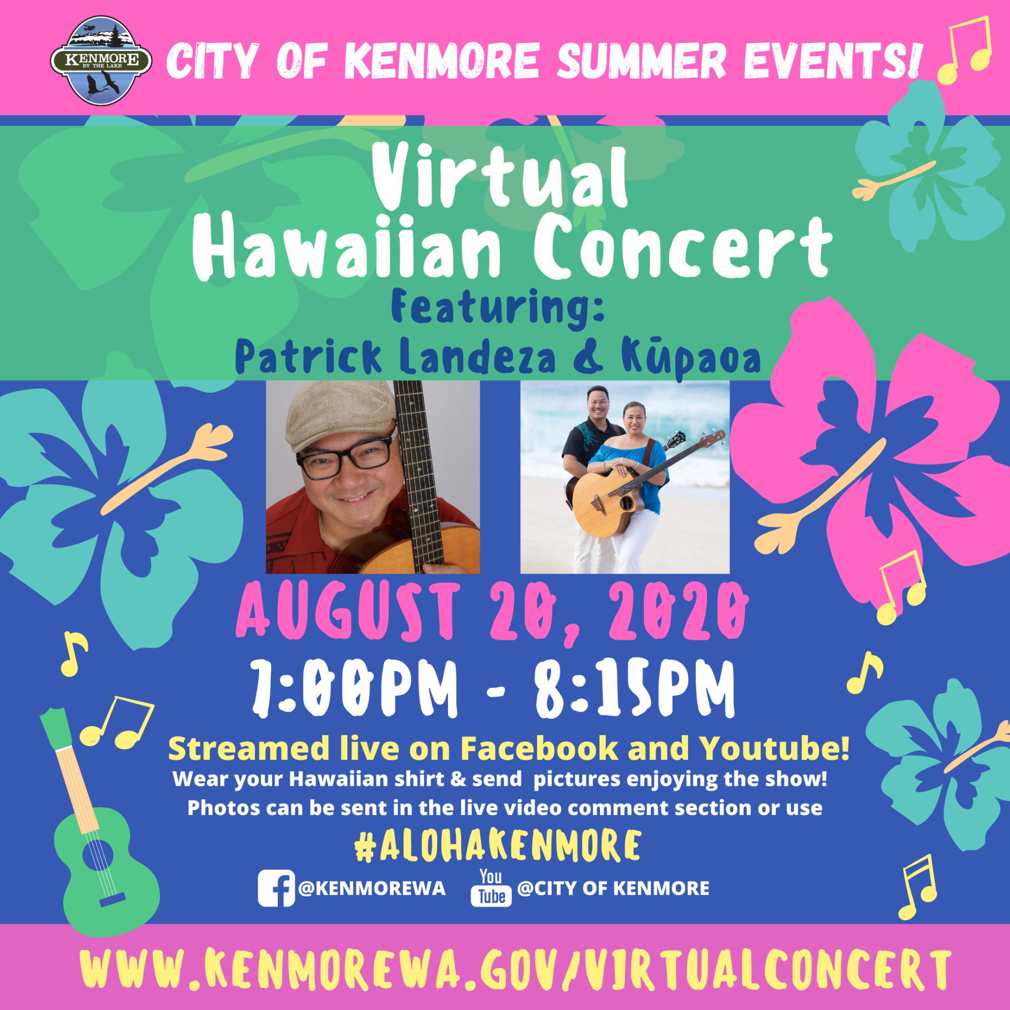 Virtual Hawaiian Concert - instagram